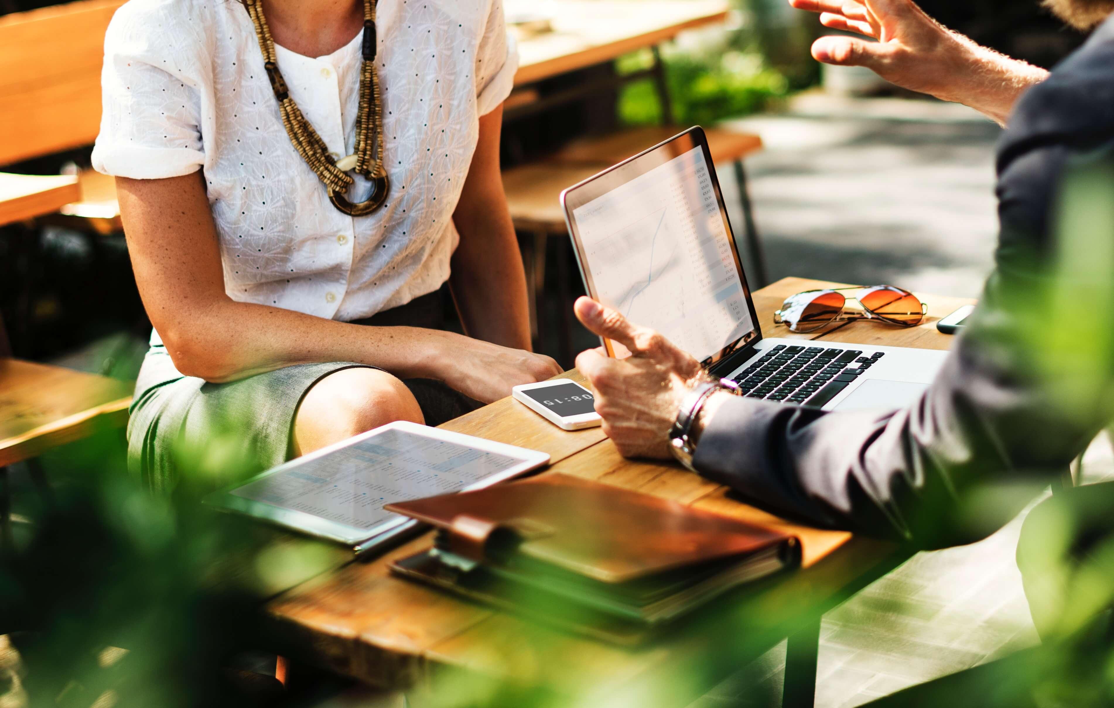 Meeting between two people talking